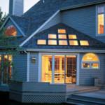 Раздвижные алюминевые окна для дачи