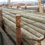 Деревянные опоры для ЛЭП